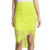Bisou Bisou® Asymmetrical Lace Pencil Skirt