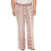Rewash Print Linen Pants - Juniors Plus