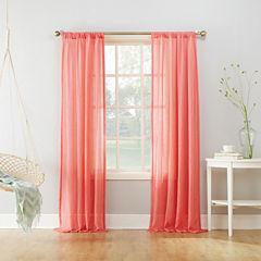 Lola Solid Rod-Pocket Sheer Curtain Panel