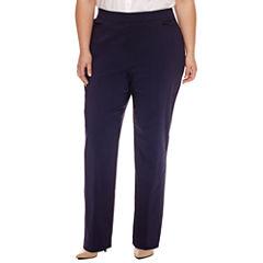 Worthington Slim Fit Pull on Pants-Plus