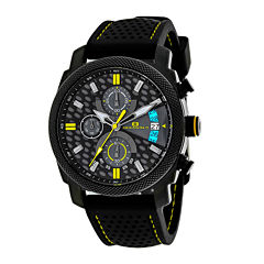 oceanaut men s watches for jewelry watches jcpenney oceanaut kryptonite mens yellow black rubber strap watch