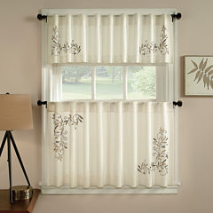 Scroll Leaf Rod-Pocket Kitchen Curtains