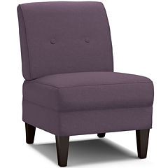 Frankie Armless Tufted Slipper Accent Chair
