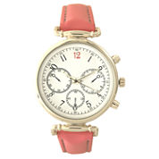 Olivia Pratt Womens Pink Strap Watch-16557
