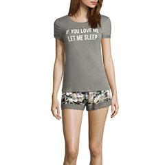 Wallflower Shorts Pajama Set-Plus
