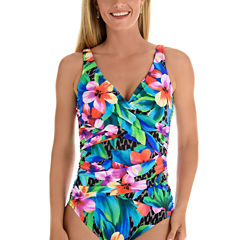 Trimshaper Floral One Piece Swimsuit