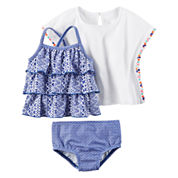 Carter's Girls Solid Tankini Set - Baby