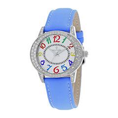 Christian Van Sant Sevilla Womens Blue Leather Strap Watch
