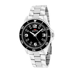Seapro Tideway Womens Black Dial Stainless Steel Bracelet Watch