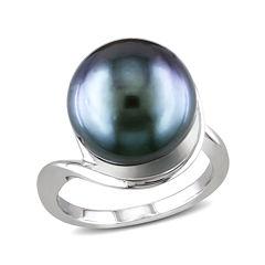 Genuine Black Tahitian Pearl Sterling Silver Ring
