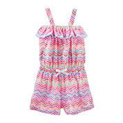 OshKosh B'gosh® Sleeveless Chevron Romper - Toddler Girls 2t-5t