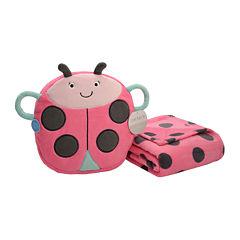 Carter's® On-the-Go Ladybug Plush Bag with Blanket