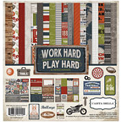 Echo Park Paper 14-pc. Work Hard Play Hard Collection Kit