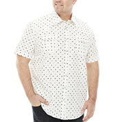 The Foundry Big & Tall Supply Co.™ Short-Sleeve Vintage Woven Cotton Shirt