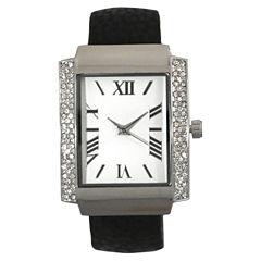 Olivia Pratt Womens Black Bangle Watch-15773