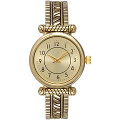 Olivia Pratt Womens Gold Tone Bangle Watch-15785