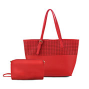 Olivia Miller Irena Perforated Tote Bag With Accessory Pouch