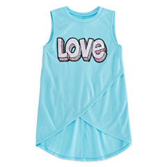 Total Girl Sleeveless T-Shirt-Big Kid Girls