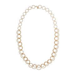 Monet® Gold-Tone Circle Long Link Necklace