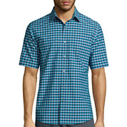 Claiborne® Easy-Care Short-Sleeve Button-Front Shirt