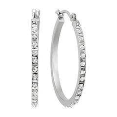 Diamond Fascination™ 14K Gold Diamond Accent Round Hoop Earrings
