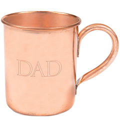 Cathy's Concepts Dad Moscow Mule Copper Mug with Polishing Cloth