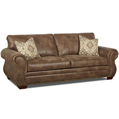 Burk Faux-Leather Sofa