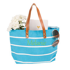 Cathy's Concepts Personalized Striped Tote
