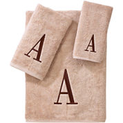 Avanti Monogram Block Bath Towels