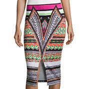 Bisou Bisou® Slit-Front Pencil Skirt