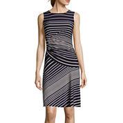 Danny & Nicole® Sleeveless Stripe Sheath Dress