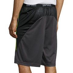 Tapout Printed Panel Flat-Front Training Shorts