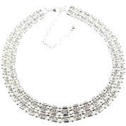Vieste Rosa Womens Brass Choker Necklace