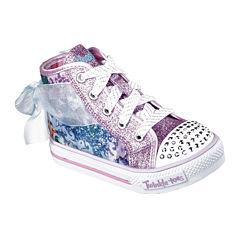 Skechers® Twinkle Toes Shuffles Girls High Top Sneakers - Toddler