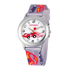Red Balloon™ Boys' Gray Car-Printed Strap Watch