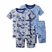 Carter's® 4-pc. Shark Pajama Set - Toddler Boys 2t-5t