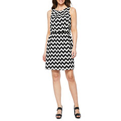 S. L. Fashions Sleeveless Blouson Dress