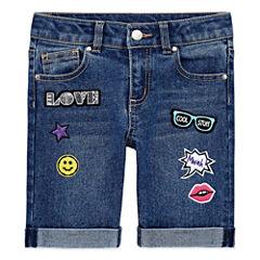 Total Girl Denim Bermuda Shorts - Preschool Girls