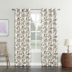Sun Zero Nicolette Blackout Grommet-Top Curtain Panel