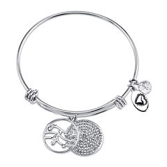 Footnotes® Sterling Silver Love Is Music Bangle Bracelet