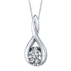 Sirena® ⅛ CT. T.W. Diamond 14K Gold Pendant Necklace