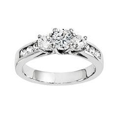 1 3/4 CT. T.W. Diamond 14K White Gold  Channel Set 3-Stone Ring