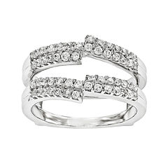 5/8 CT. T.W. Diamond 14K White Gold Ring Guard