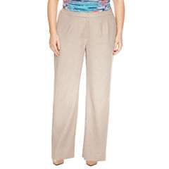 Black Label by Evan-Picone Classic Fit Suit Pants-Plus
