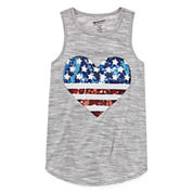 Arizona Sequin Americana Tank Top - Girls' 7-16 and Plus
