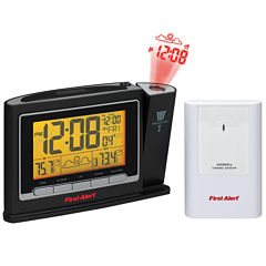 First Alert SFA2800 Radio-Controlled Weather Station Projection Clock Radio