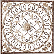Distressed Ivory Medallion Wall Decor
