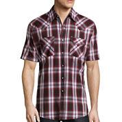 Ely Cattleman® Short-Sleeve Western Plaid Snap Shirt -Big & Tall
