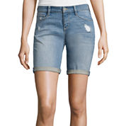 Arizona Destructed Bermuda Shorts - Juniors