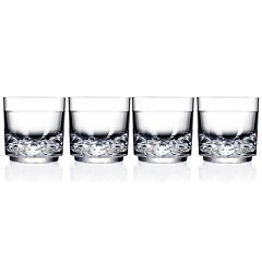 Drinique Unbreakable Elite Set of 4 Rocks Glasses